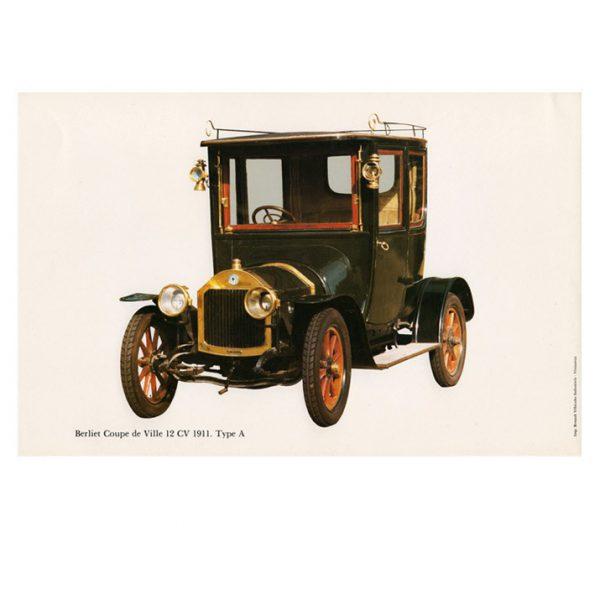 Gravure Berliet 12 HP coupé de ville type A de 1911.