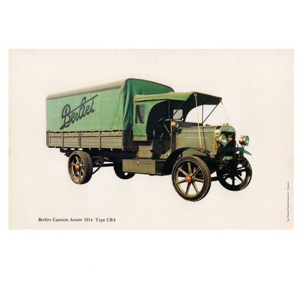 Gravure Berliet type CBA de 1914.