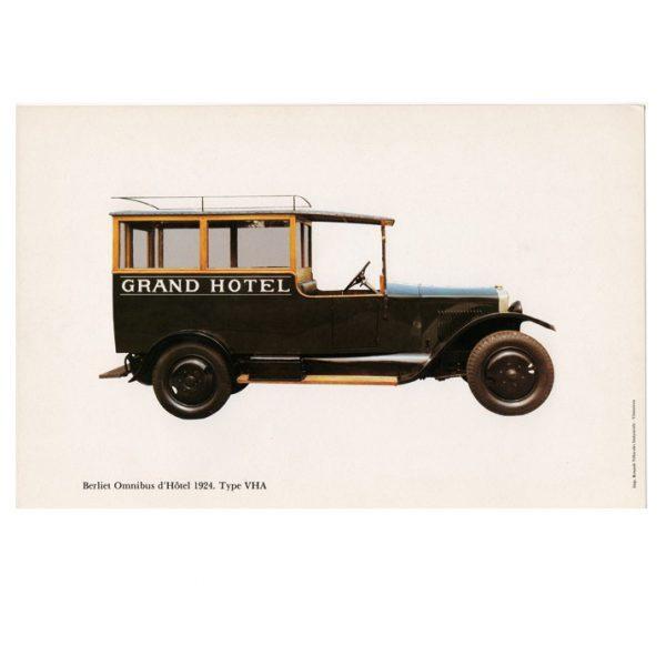 Gravure Berliet omnibus d'hôtel type VHA de 1924