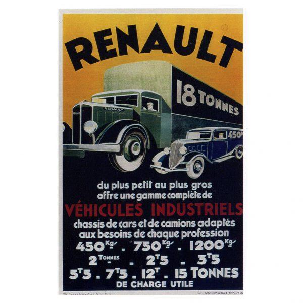 Affiche Renault 18 tonnes - 1934